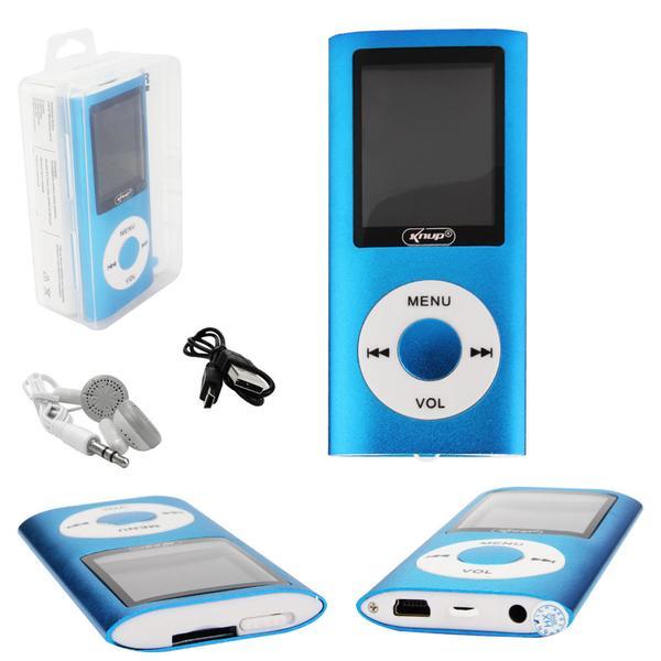 MP0031AZ - Mp4 Player Com Visor e Entrada SD Card Azul Knup KP-4007 KP-4007  KNUP